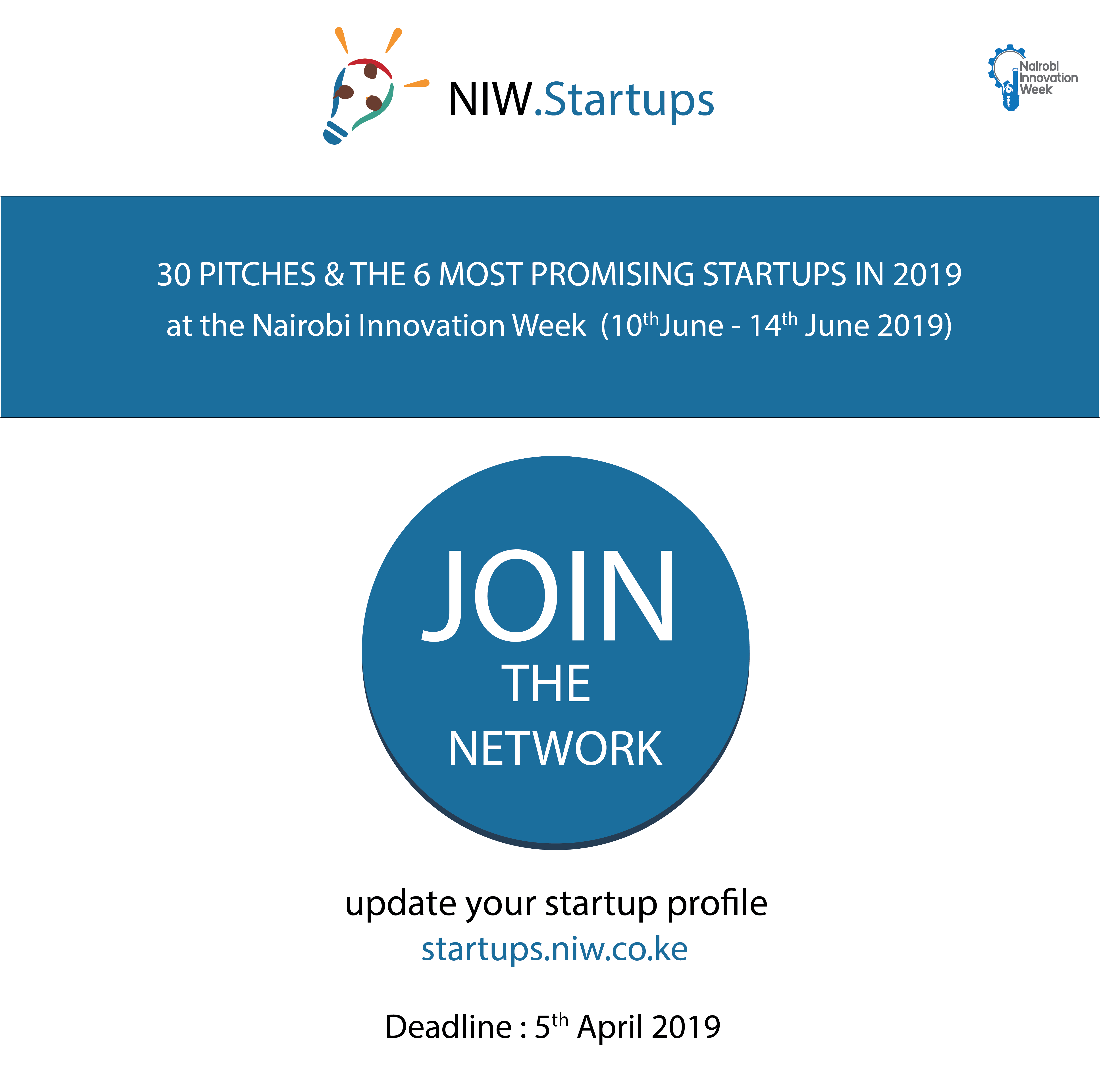 NAIROBI INNOVATION WEEK ANNOUNCES EXCLUSIVE BENEFITS FOR STARTUPS PARTICIPATING IN NIW 2019
