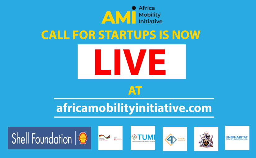 AFRICA MOBILITY INITIATIVE OPENS CALL FOR STARTUPS WORKING TOWARDS SUSTAINABLE URBAN MOBILITY.
